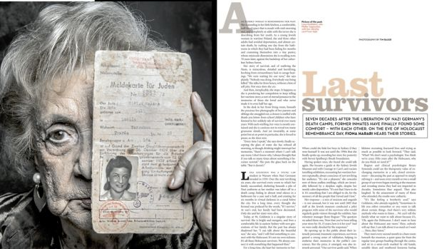 Good Weekend's 2013 feature on Holocaust survivors.
