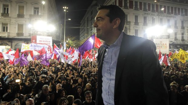 """Greece will now move ahead with hope, and reach out to Europe, and Europe is going to change"": Syriza leader Alexis Tsipras."