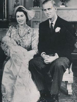 The christening of Princess Anne: Prince Philip is reputed to have withheld sex for years.