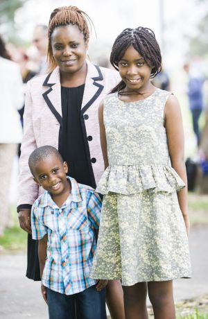 Chido Taruvinga was delighted to share the occasion with her children, Tanya Shayanano and Shaun Deeranyika.