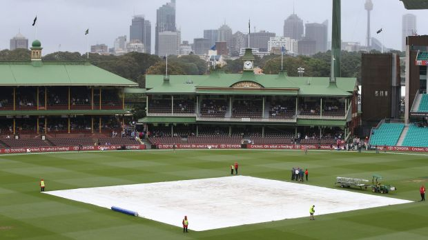 The wicket remains covered at the SCG as the weather put paid to hopes of play in the one-day match.