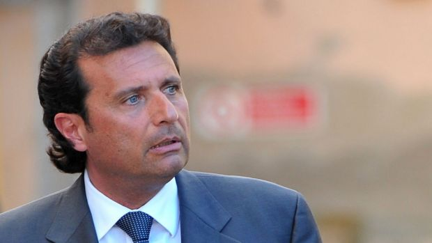 'Captain Coward' ... prosecutor Stefano Pizza has asked the judges to show Costa Concordia's captain Francesco ...