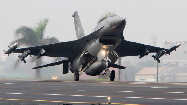 NATO authorities say a Greek F-16 crashed after losing power on take-off at a training centre in Albacete, Spain. This ...