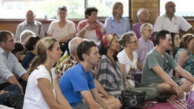 Amber Copland and Liam Holcombe join in a public show of support for Toowoomba's Muslim community. Kevin Farmer, ...