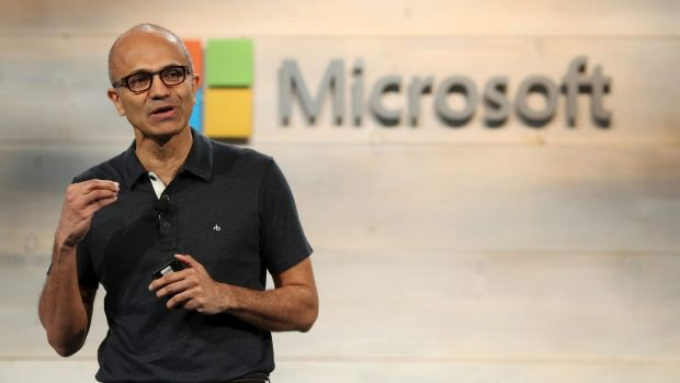 Declining PC sales are hurting Windows sales for Microsoft, whose CEO Satya Nadella is seen here, but the market appears ...