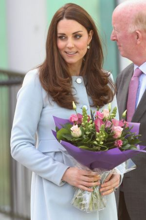 Natural glow: How the Duchess really looked.