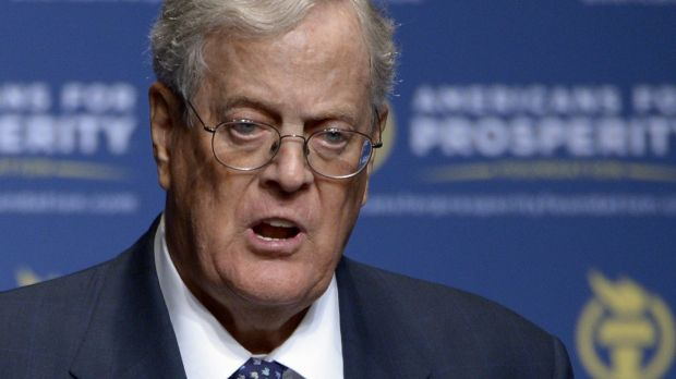 David Koch, who, with his brother Charles, plans to spend millions of dollars on the 2016 US presidential campaign.