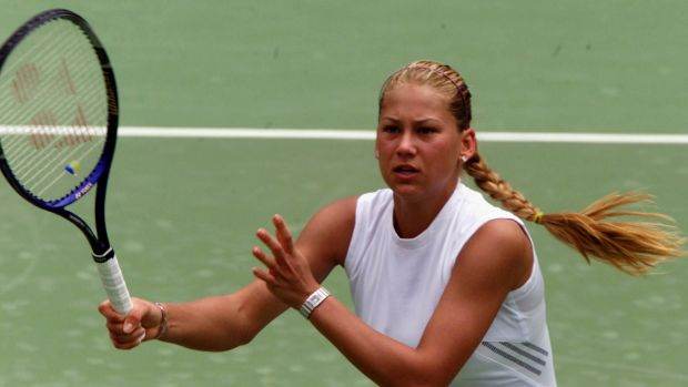 Anna Kournikova plays in Sydney in 2000.