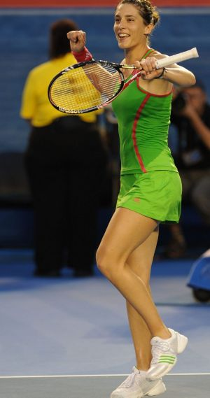 Andrea Petkovic dances in fine style.