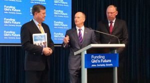 Treasurer Tim Nicholls, Premier Campbell Newman and Deputy Premier Jeff Seeney.