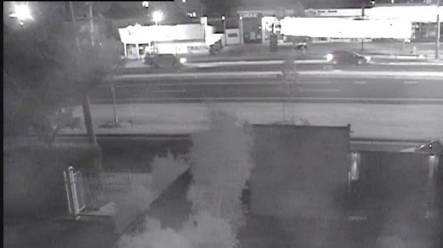 Image from CCTV footage of two cars on Mickleham Road. Related to the murder of Kenan Balikel.
