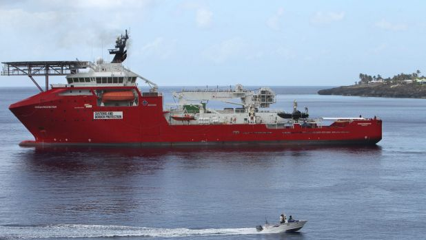 Ocean Protector: 157 asylum seekers were detained on the vessel for a month last year.
