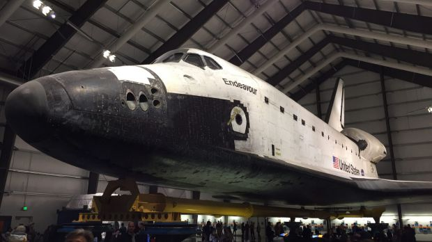 You can get up close with Endeavour at California Science Centre, not far from LAX.