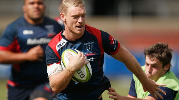 Bryce Hegarty at Rebels training on Tuesday.
