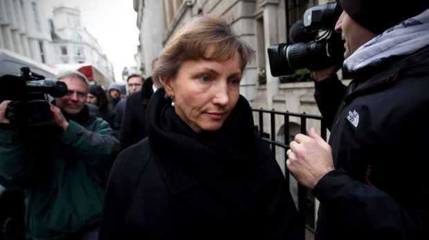 Marina Litvinenko,  widow of Alexander, leaves the High Court inquiry in London.