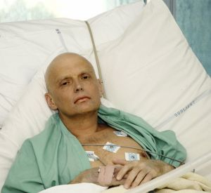 Alexander Litvinenko in hospital after being poisoned.