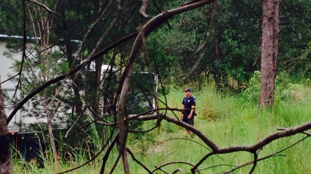 Police search for property in the Gold Coast Hinterland.