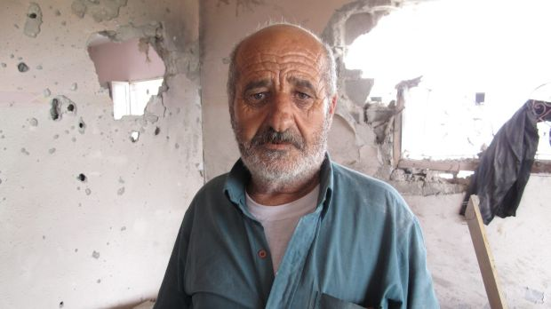 Alian Abu Jarad, who lost eight relatives in an air strike on Beit Hanoun in the Gaza Strip which he insists came ...