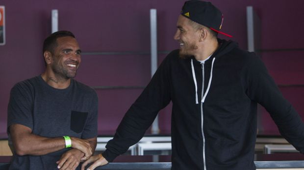 Friendly foes: Anthony Mundine and Sonny Bill Williams