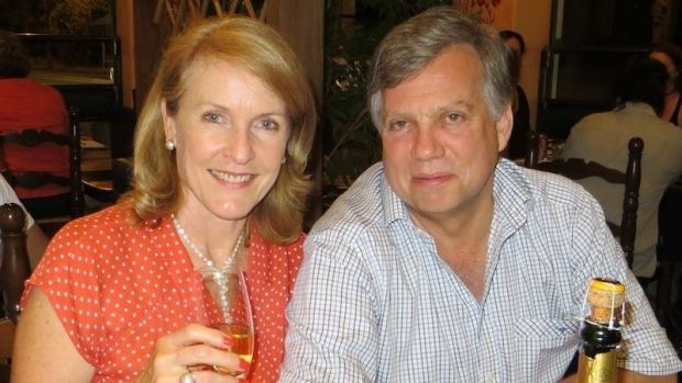 Murdered ...Theresa van Breda and her husband Martin.