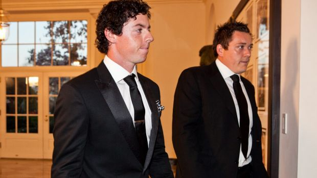 McIlroy with his ex-agent Conor Ridge at the White House in 2012.