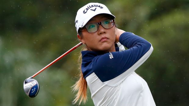 Solid start: Lydia Ko is just two shots off the pace after a  four-under par 68 at the Coates Golf Championship.