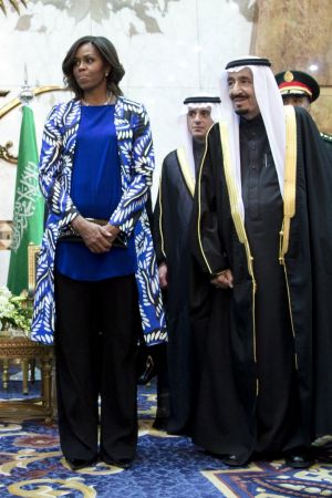 Michelle Obama's choice of wardrobe grabbed the world's attention.