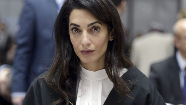 Human rights lawyer Amal Clooney.
