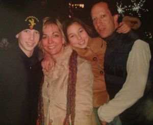 Christine and Jason Cirker with son Marlon and daughter Mia. The children spent their childhood sharing a bedroom in a ...