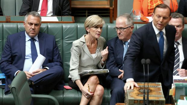 "In the running: Julie Bishop and Malcolm Turnbull are both being ""actively considered"" as replacements."