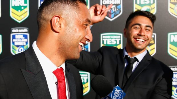 Kiwi stars: Benji Marshall and Shaun Johnson share a joke before the 2015 NRL season launch in Auckland. The choice of ...