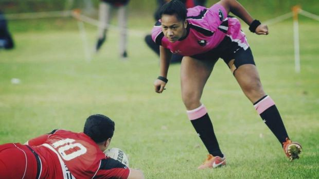 Getting closer: A female ref may soon handle an NRL game.
