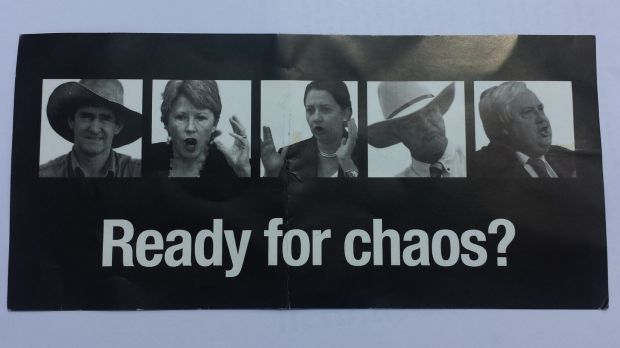 An LNP pamphlet that has prompted legal action by Katter's Australian Party.