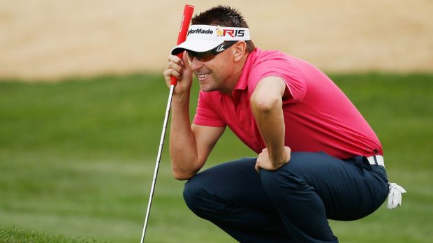 Robert Allenby during the first round of the Waste Management Phoenix Open at TPC Scottsdale.