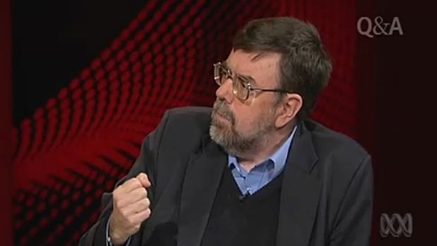 """Sheridan, pictured appearing on Q&A, has described Mr Abbott as his """"best friend"""" during university days."""