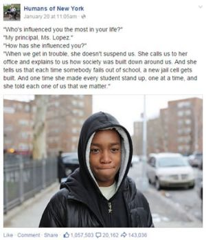 The post that started it all with Mott Hall Bridges eighth grader Vidal Chastanet.