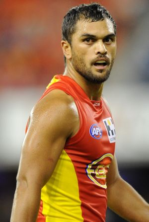 As a Sun: Hunt during his days in the AFL.