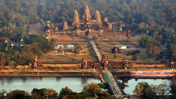 Cambodia's Angkor Wat basks in evening sunlight in this  2003 file photo.