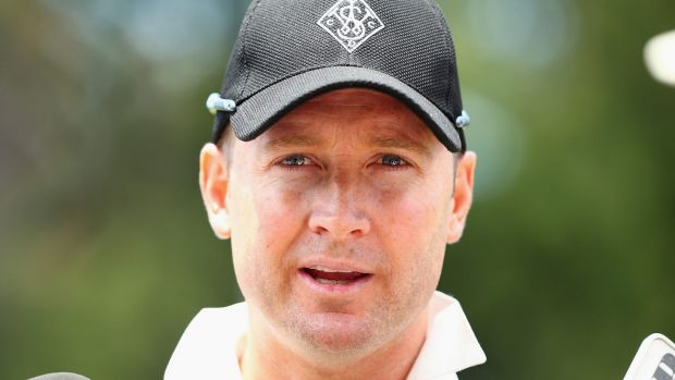 Recovering well: Michael Clarke.