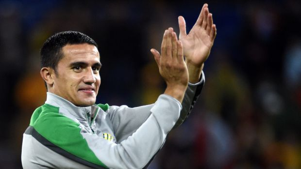 Stepping up: Tim Cahill has risen to the occasion and scored at key moments.