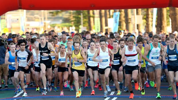 And they're off: More than 5500 competitors took part in the Sun Run.