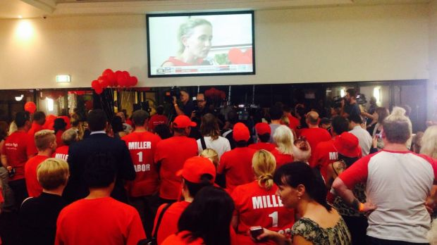 The Labor Party faithful are jubilant in Richlands.