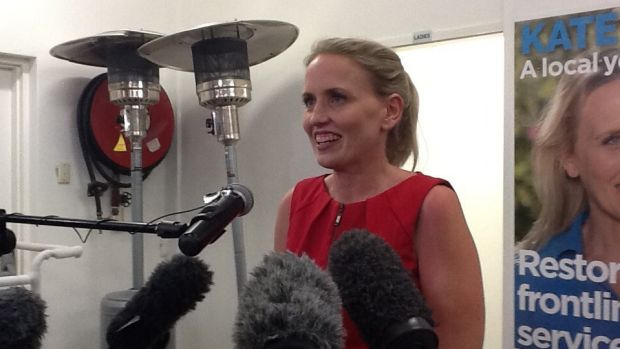Labor's Kate Jones claims victory in Ashgrove.