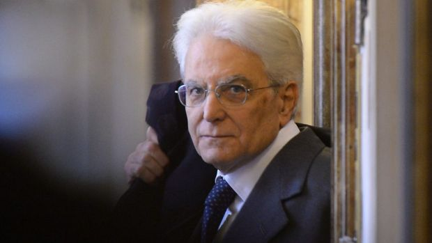 Elected after four rounds of voting: New Italian President Sergio Mattarella.