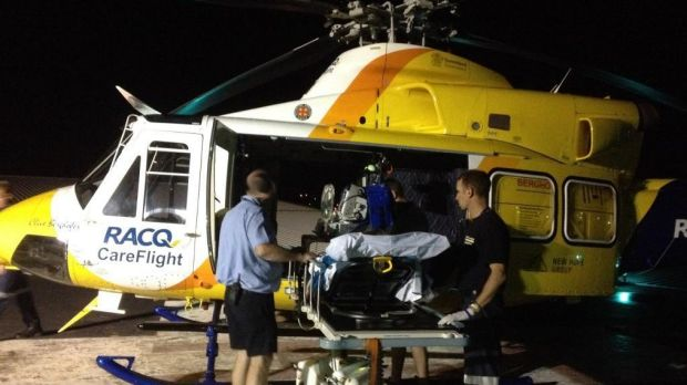 The RACQ Careflight chopper took part in four missions overnight, including taking a snakebite victim to the Princess ...