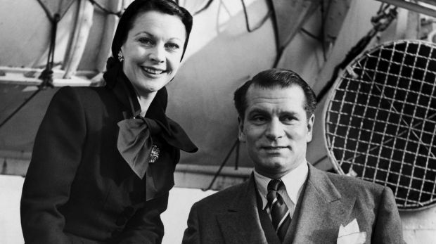 Lovers: Laurence Olivier wrote more than 200 love letters to his mistress then wife Vivien Leigh.