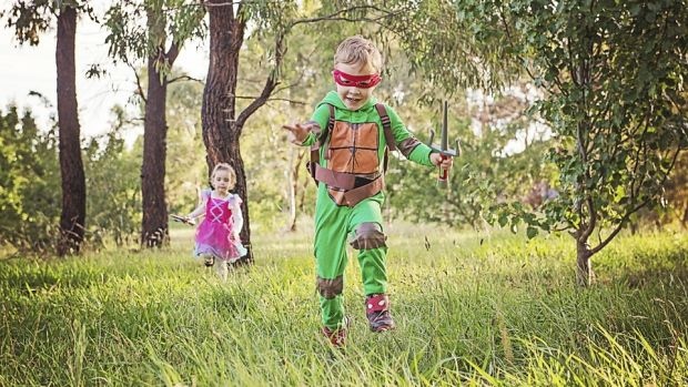 Vanessa Burdett's entry to The Canberra Times summer photo competition. Titled Superheroes, it's of her children Harvey ...