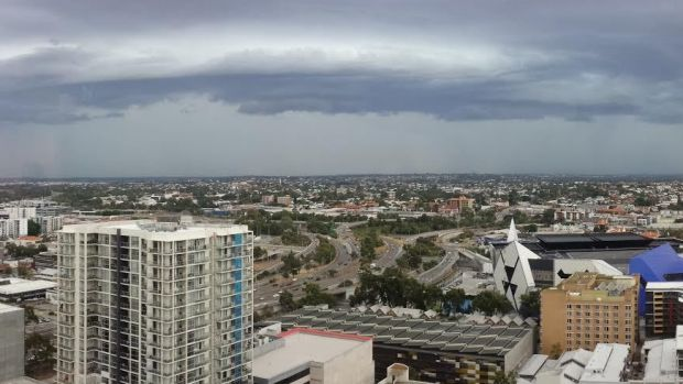 WAtoday.com.au reader Goce Krcoski submitted this photo of an approaching storm, snapped from the 19th floor of the QV1 ...