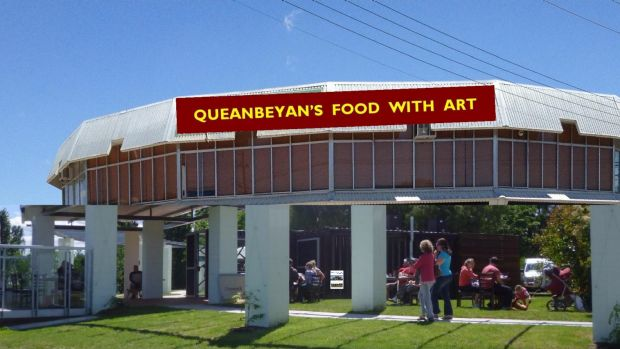 An artist's impression for the future of the riverside at Queanbeyan.