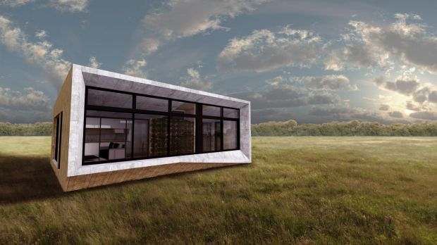 An ArchiBlox-designed carbon-positive home will be on show in Swanston Street during the Sustainable Living Festival.